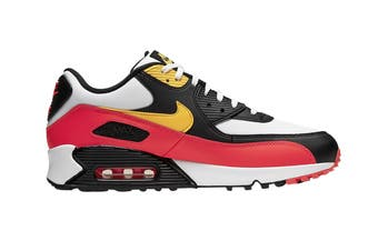 Nike Men's Air Max 90 Essential Shoes (Red/Black/Yellow, Size 7.5 US)