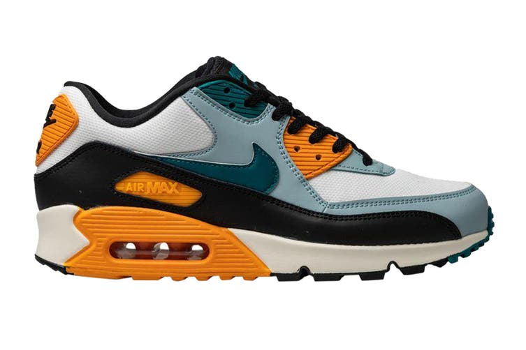 Nike Men's Air Max 90 Essential Shoes (Essential Teal/Yellow/Black, Size 8.5 US)