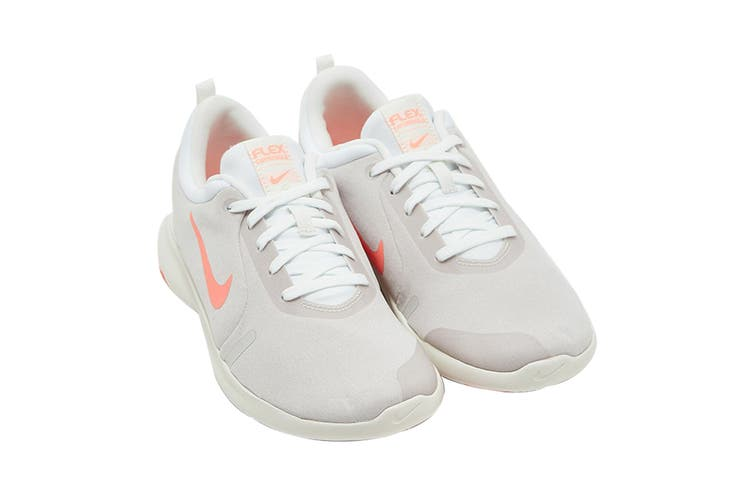 Nike Women's Flex Experience Run 8 Shoes (White/Lava Glow, Size 6.5 US)