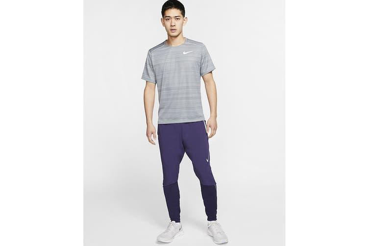 Nike Men's Dry Miler Short Sleeve Tee (Smoke Grey, Size XL)