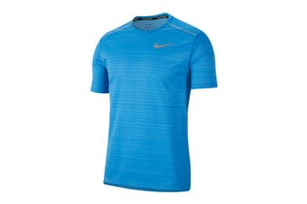 Nike Men's Dry Miler Short Sleeve Tee (Pacific Blue, Size XL)