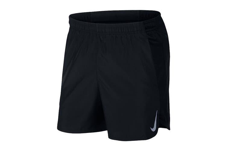 Nike Men's 5 Inch Challenger Short (Black, Size M)