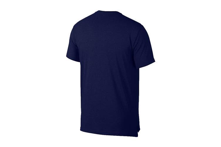 Nike Men's Dri-Fit Breathe Tees (Blue, Size L)