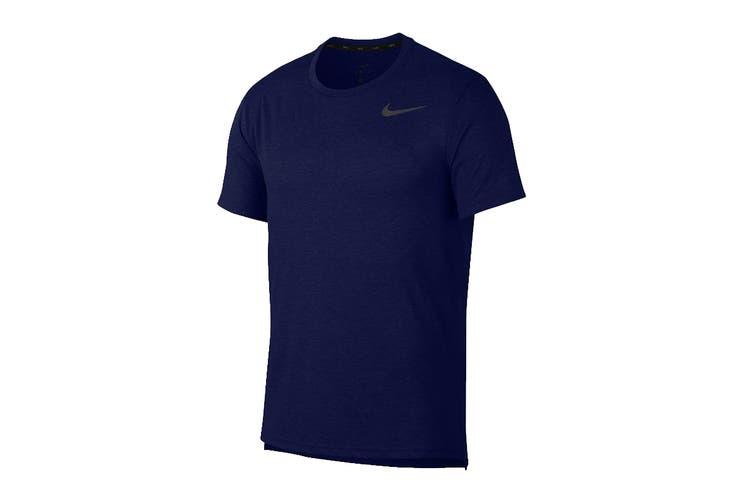 Nike Men's Dri-Fit Breathe Tees (Blue, Size M)