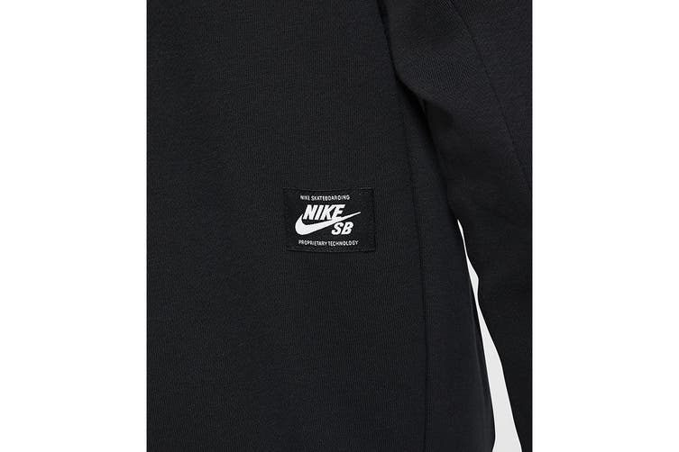 Nike Men's Icon Essential Hoodie (Black, Size L)