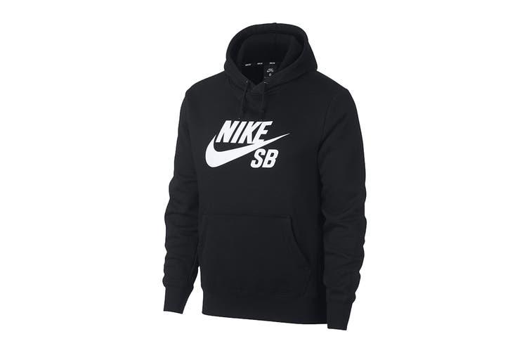 Nike Men's Icon Essential Hoodie (Black, Size XL)