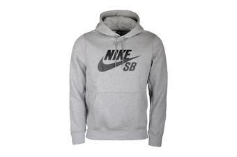 Nike Men's Icon Essential Hoodie (Dark Grey Heather/ Black, Size S)