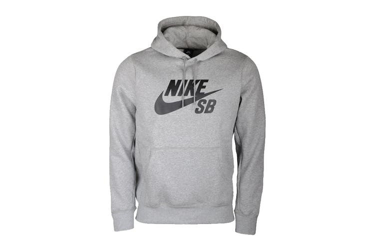 Nike Men's Icon Essential Hoodie (Dark Grey Heather/ Black, Size XL)