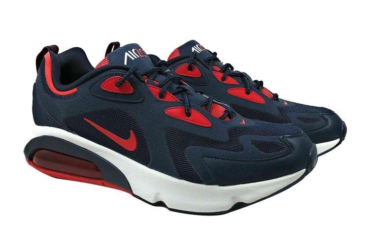 Nike Men's Air Max 200 Sneaker (Obsidian/University Red/Summit White, Size 11.5 US)