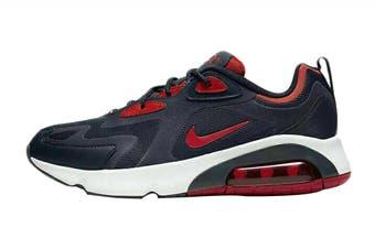 Nike Men's Air Max 200 Sneaker (Obsidian/University Red/Summit White, Size 12 US)