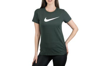 Nike Dri-FIT Women's Crew T-Shirt (Dark Green)