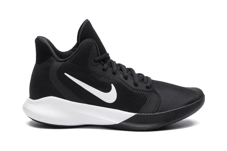 Nike Unisex's Precision III Basketball Shoe (Black, Size 8 US)