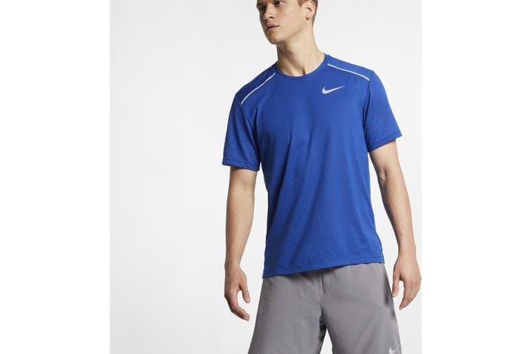 Nike Men's Rise 365 Tees (Blue/White, Size M)
