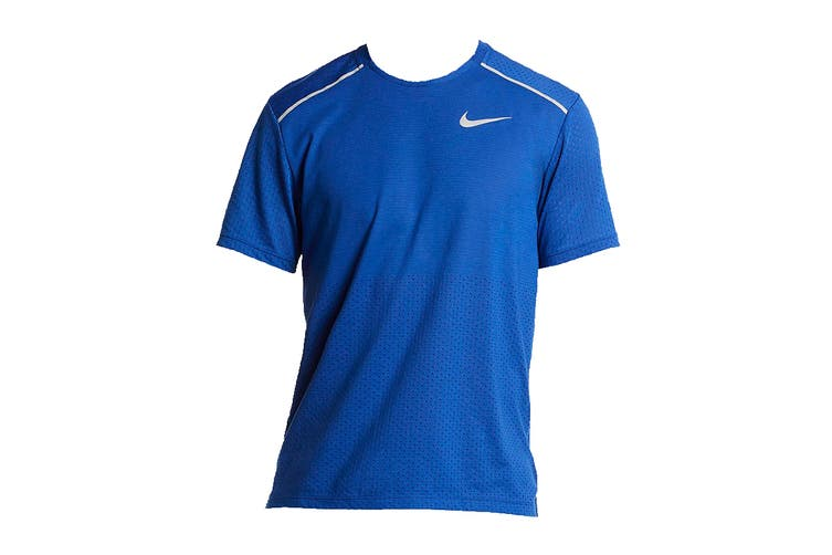 Nike Men's Rise 365 Tees (Blue/White, Size S)