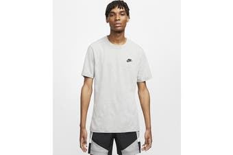 Nike Men's Club Tee (Dark Grey Heather/ Black)