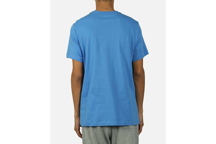 Nike Men's Just Do It Swoosh Tee (Pacific Blue/Grey, Size L)