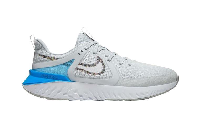 Nike Men's Legend React 2 Shoes (Grey/Blue/White, Size 8.5 US)