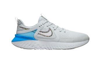 Nike Women's Legend React 2 Shoes (Grey/Blue/White, Size 9 US)