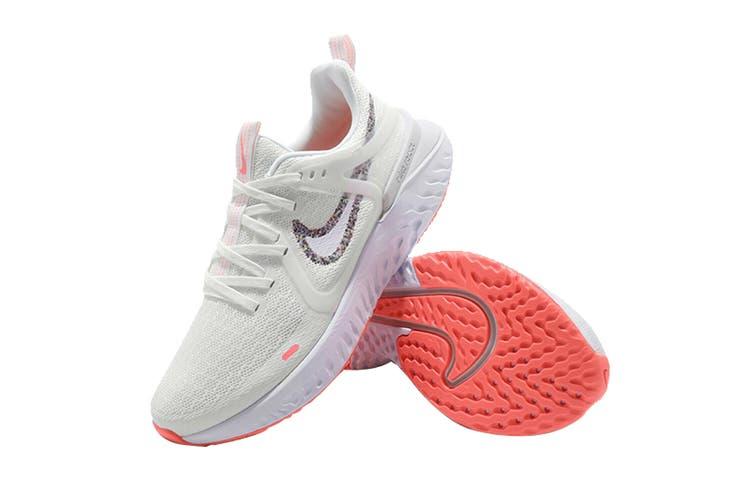 Nike Women's Legend React 2 Shoes (White/Lava Glow, Size 6 US)