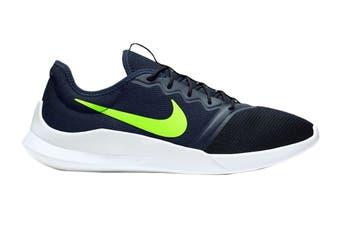 Nike Men's Viale Tech Racer Shoes (Black/White/Green, Size 8.5 US)