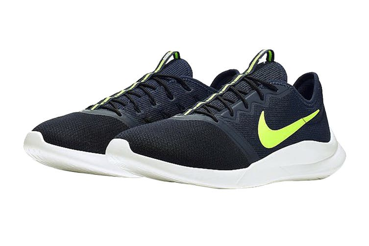 Nike Men's Viale Tech Racer Shoes (Black/White/Green, Size 9.5 US)