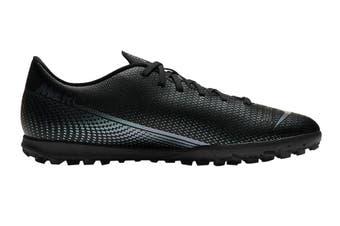 Nike Unisex Vapor 13 Club TF Football Shoe (Black/Black)