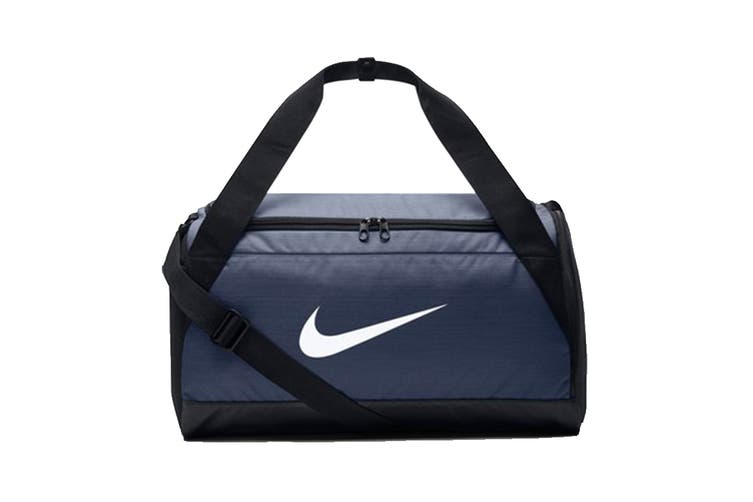 Nike Brasilia Small Duffel Bag (Navy/Black/White)
