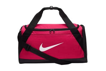 Nike Brasilia Training Duffel Bag (Pink/Black White, Size Small)