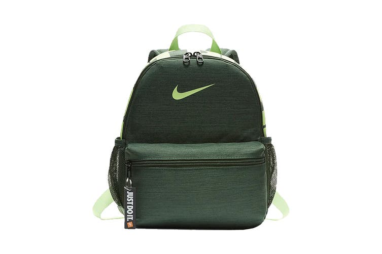 Nike Brasilia JDI Backpack (Fir/Lime Blast/Lime Blast)