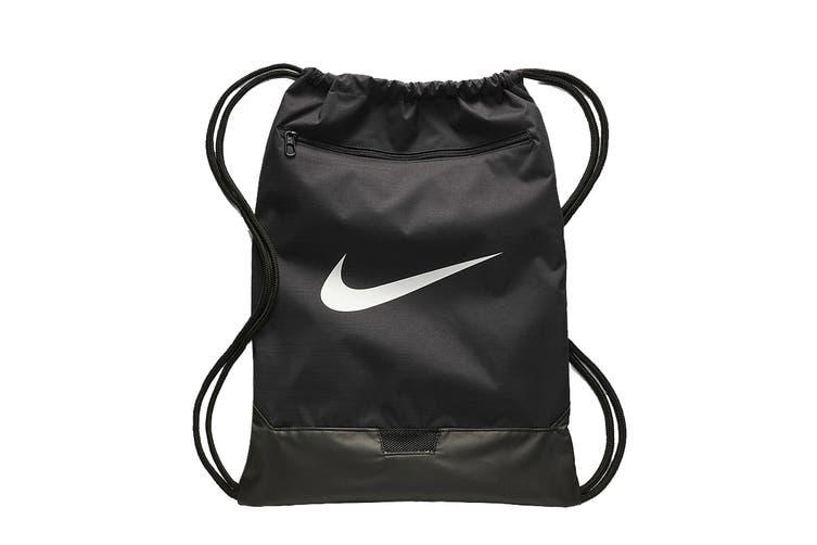 Nike Unisex BRSLA Gym Sack (Black/White)