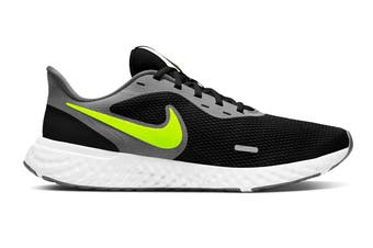 Nike Men's Revolution 5 Running Shoe (Black/Lime, Size 8 US)