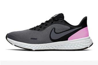 Nike Women's Revolution 5 Running Shoe (Black/Pink, Size 5.5 US)