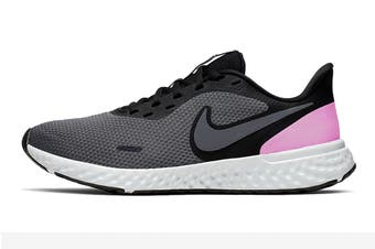Nike Women's Revolution 5 Running Shoe (Black/Pink, Size 6 US)