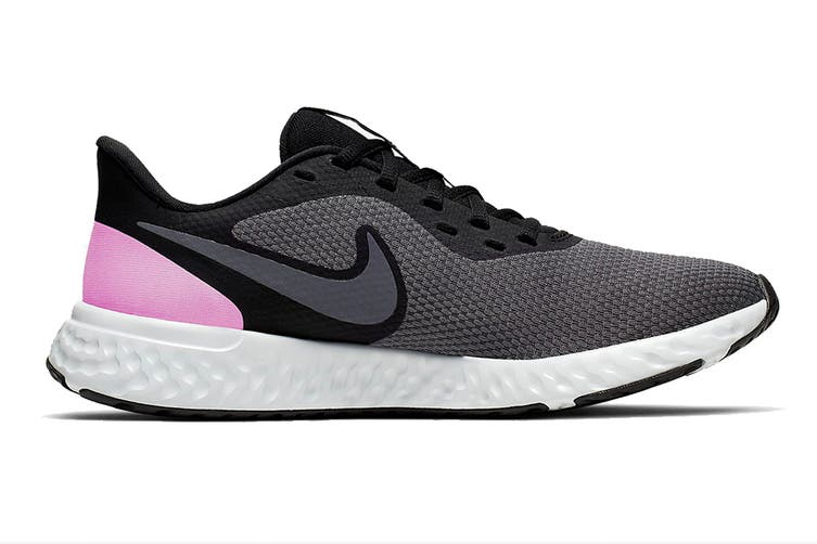 Nike Women's Revolution 5 Running Shoe (Black/Pink, Size 8 US)