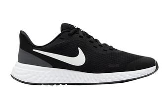 Nike Kids Unisex Revolution 5 GS Shoes (Black/White)