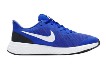 Nike Kids Unisex Revolution 5 GS Shoes (Blue/White)