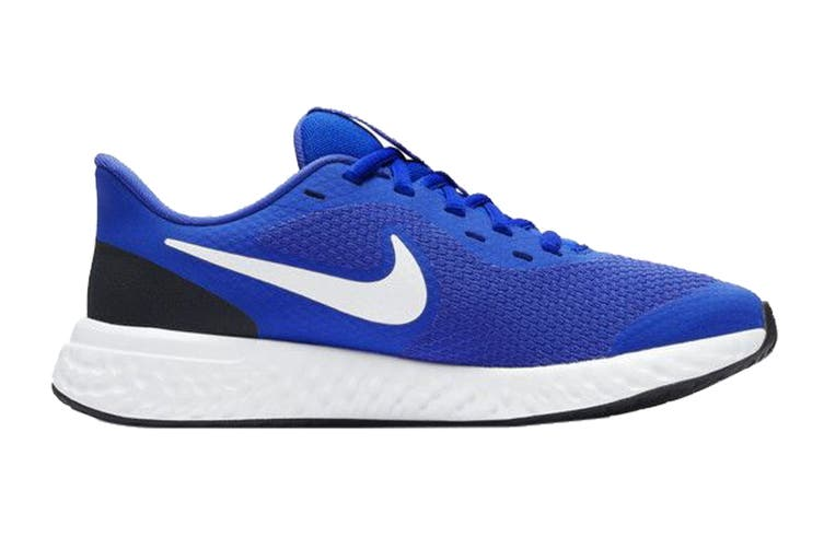 Nike Kids Unisex Revolution 5 GS Shoes (Blue/White, Size 5.5 US)