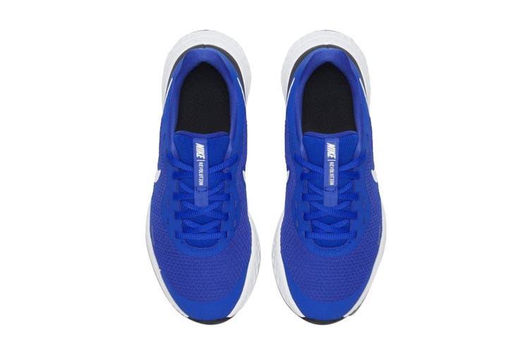 Nike Kids Unisex Revolution 5 GS Shoes (Blue/White, Size 6.5 US)