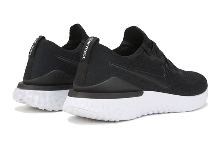 Nike Women's Epic React Flyknit 2 Running Shoe (Black, Size 6 US)