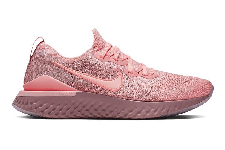 Nike Women's Epic React Flyknit 2 Running Shoe (Pink, Size 6 US)