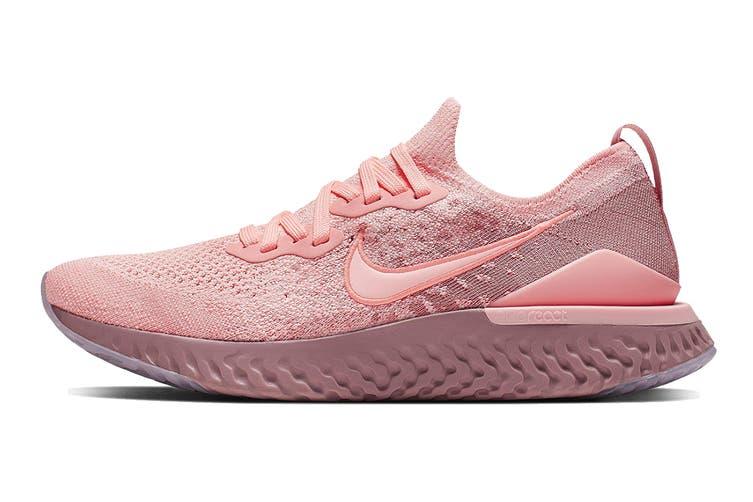Nike Women's Epic React Flyknit 2 Running Shoe (Pink, Size 8.5 US)