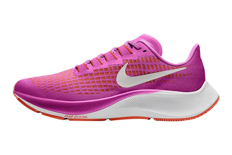 Nike Women's Air Zoom Pegasus 37 Running Shoe (Fire Pink/White/Team Orange/Magic Ember, Size 10 US)
