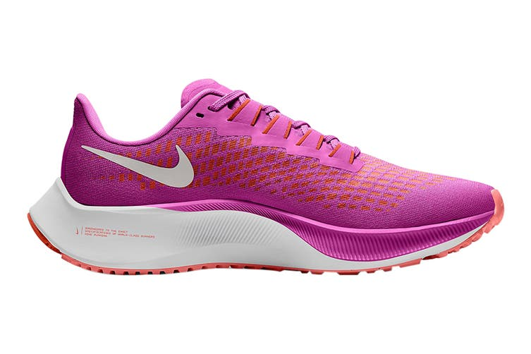 Nike Women's Air Zoom Pegasus 37 Running Shoe (Fire Pink/White/Team Orange/Magic Ember, Size 11 US)