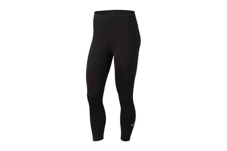 Nike Women's One Crop Tight (Black, Size M)
