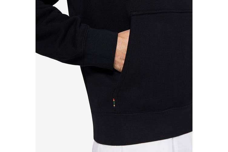 Nike Men's Court Fleece Heritage Hoodie (Black, Size S)