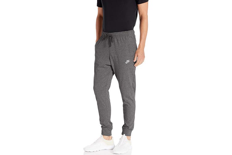 Nike Men's Club Jersey Jogger Pants (Charcoal Heather, Size L)