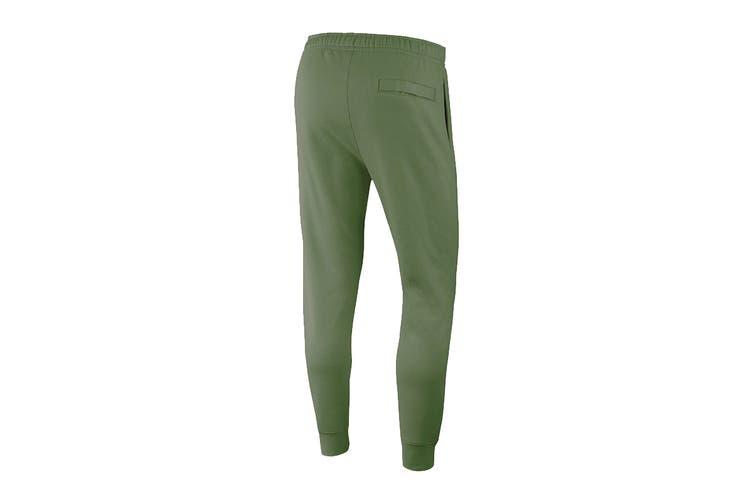 Nike Men's Club Jersey Jogger Pants (Treeline/White, Size M)