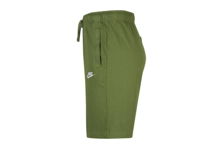 Nike Men's Club Jersey Short (Treeline/White, Size L)
