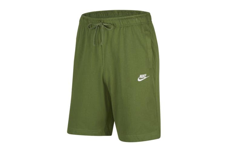 Nike Men's Club Jersey Short (Treeline/White, Size XL)