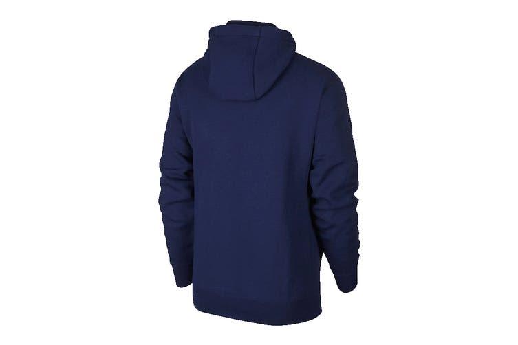 Nike Men's Sportswear Club PO BB GX Hoodies (Blue/White, Size XL)